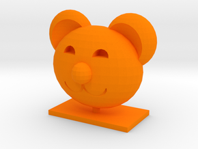 Teddy Bear Head in Orange Processed Versatile Plastic