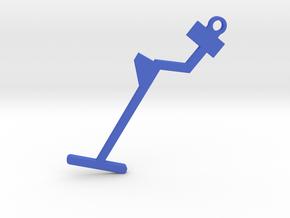 Metal Detector Keyring in Blue Strong & Flexible Polished