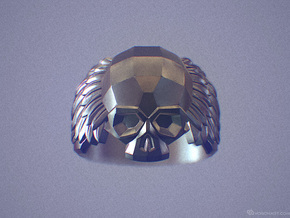 Winged Skull Ring in Polished Silver: 11.5 / 65.25