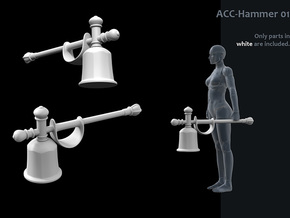 ACC-01-Hammer  7inch in White Strong & Flexible Polished