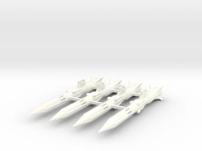 'Anti-Vajra' Missile x4 - BANDAI in White Processed Versatile Plastic