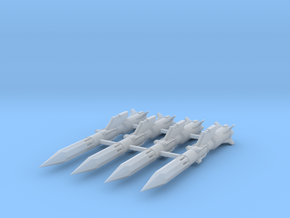 'Anti-Vajra' Missile x4 - YAMATO in Smooth Fine Detail Plastic