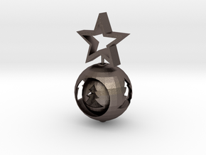 Christmas ball With big Star in Stainless Steel