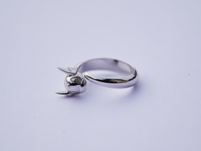 Dragon Ring in Rhodium Plated Brass: 6.5 / 52.75