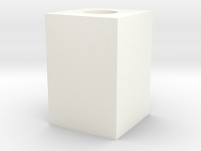 Cubo 2 (mas Holgado) in White Strong & Flexible Polished