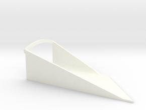 R44 Vent Starboard Mk2 (small) in White Processed Versatile Plastic