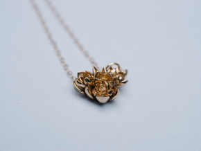 Succulent Cluster Pendant in Polished Bronze