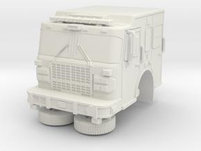 1/87 Bayonne, NJ Dept Spartan/ERV tower ladder cab in White Natural Versatile Plastic