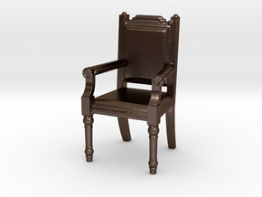 Fireplace chair in Polished Bronze Steel: 1:10