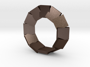 .jewelry mobius segmented plates various sizes in Matte Bronze Steel: Small