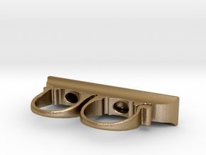 Kamar Taj Sling Ring Doctor Strange replica in Polished Gold Steel: 7.5 / 55.5