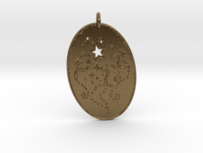 Shooting Stars 1 Pendant by Gabrielle in Natural Bronze