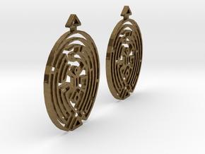 Earring Model F Pair in Natural Bronze