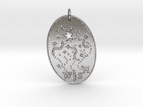 Shooting Stars Wish 1 Pendant by Gabrielle in Natural Silver