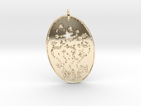Shooting Stars Wish 1 Pendant by Gabrielle in 14K Yellow Gold