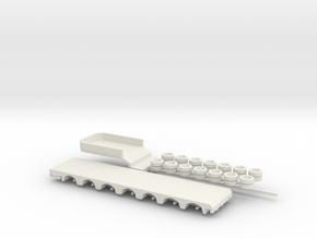 1:160/N-Scale 7 Axle Semitrailer in White Natural Versatile Plastic
