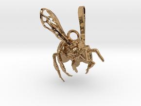 Western Honey Bee Pendant in Polished Brass