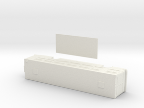 HO scale NABI 40-lfw bus with floor in White Strong & Flexible