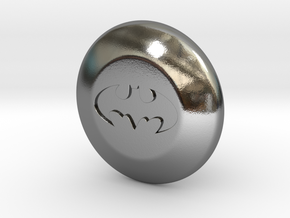 Shooter Rod Knob - BatSignal in Polished Silver