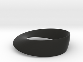 Mobius Strip in Black Natural Versatile Plastic