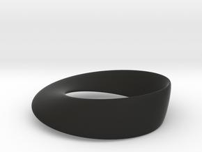 Mobius Strip in Black Natural Versatile Plastic