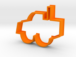 Cookie Cutter Bulldozer in Orange Processed Versatile Plastic