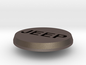 Jeep Buttons in Polished Bronzed Silver Steel