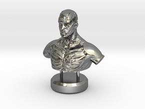 """""""Fading Honor"""" - Sculpture in Polished Silver"""
