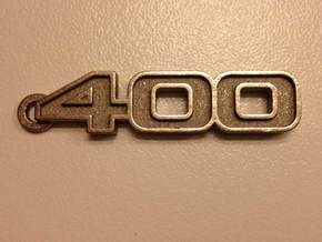 KEYCHAIN LOGO 400 in Polished Nickel Steel