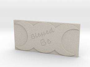 Triple Moon Blessed Be Tile by ~M. in Natural Sandstone
