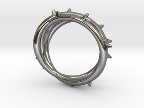 Rose Thorn Ring - Sz.7 in Fine Detail Polished Silver
