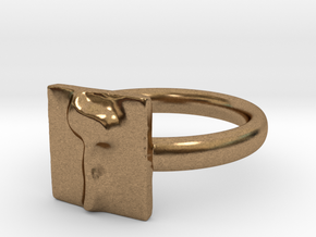 07 Zayn Ring in Natural Brass: 7 / 54