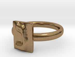 14 Nun Ring in Natural Brass: 7 / 54