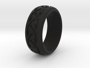 Braid Pattern 1  in Black Natural Versatile Plastic: 9 / 59