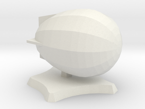 Bad Egg airship in White Natural Versatile Plastic