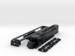 N Scale SDP40 in Black Hi-Def Acrylate