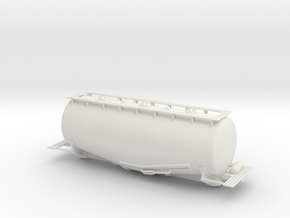 Whale Belly tank car - HOscale in White Strong & Flexible