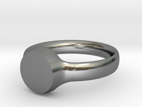 Customizable Ring T2 (62 - 19.8mm) in Polished Silver