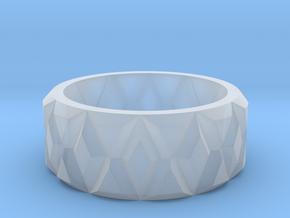 Diamond Ring in Smooth Fine Detail Plastic