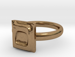 24 Mem-sofit Ring in Natural Brass: 7 / 54