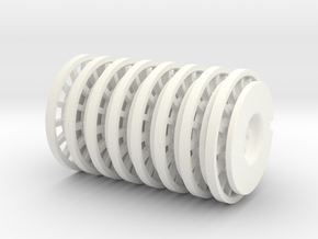 8 Tapacubos Ventolines para llanta de 19mm in White Strong & Flexible Polished