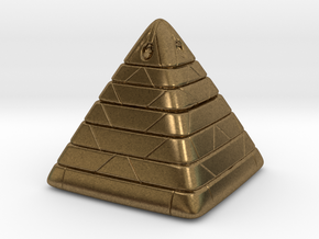Pyramide Enlighted in Natural Bronze