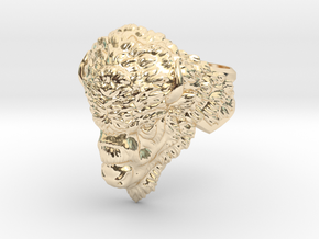 Bison Head Ring in 14K Yellow Gold: 11.5 / 65.25