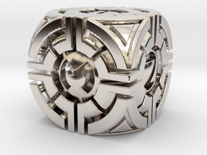 Forcebox D6 in Rhodium Plated Brass