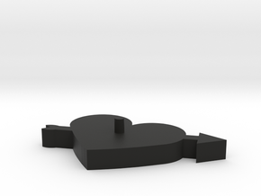 Arrow Heart Cookie Cutter in Black Strong & Flexible