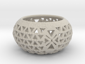 Tealight Candle Holder Q10 in Sandstone