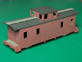 HOn3 30ft Caboose C in White Natural Versatile Plastic