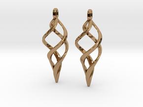 Kaladesh Earrings set in Polished Brass