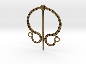 """Fibula Romana"" in Interlocking Polished Bronze"