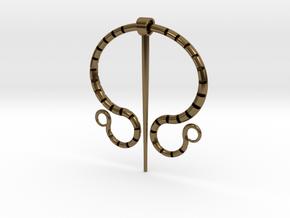 """Fibula Romana"" in Polished Bronze (Interlocking Parts)"